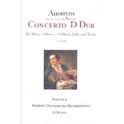 Anonymus: Konzert D-Dur : für Horn und Orchester Partitur