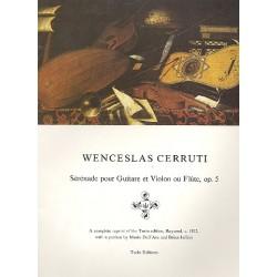 Cerruti, Wenceslas: Serenade op.5 : für Violine (Flöte) und Gitarre Stimmen