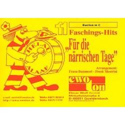 11 Faschingshits für die närrischen Tage : für Blasorchester Bariton in C