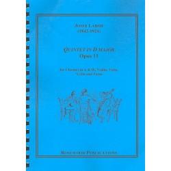 Labor, Josef: Quintett D-Dur op.11 : für Klarinette in A und B, Violine, Viola, Violoncello und Klavier Stimmen