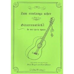 Zum einelanga schee Band 2 : f├╝r 2-3 Gitarren Spielpartitur