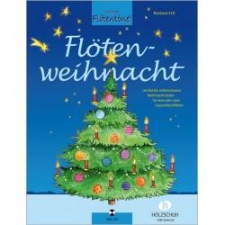 Flötenweihnacht (+CD) : für 1-2 Sopranblockflöten (mit Text) Spielpartitur