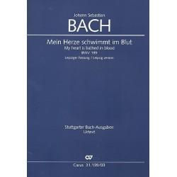 Bach, Johann Sebastian: Mein Herze schwimmt im Blut (Leipziger Fassung) : Kantate Nr.199 BWV199 Klavierauszug (dt/en)