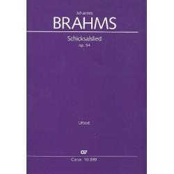 Brahms, Johannes: Schicksalslied op.54 : für gem Chor und Orchester Partitur (dt/en)