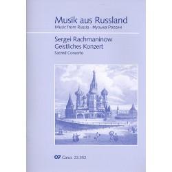 Rachmaninoff, Sergei: Geistliches Konzert : für gem Chor a cappella Partitur (dt/kirchenslaw)
