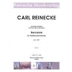 Reinecke, Carl: Barcarole op.281 für Violine und Klavier Reprint