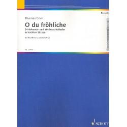 O du fröhliche : für 4 Blockflöten (SATB) Partitur und Stimmen