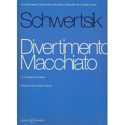 Schwertsik, Kurt: Divertimento macchiato op.99 for Trumpet and Orchestra : : for trumpet and piano