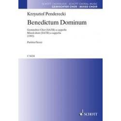 Penderecki, Krzysztof: Benedictum Dominum : für gem Chor a cappella Partitur