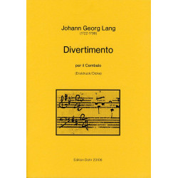 Lang, Johann Georg: Divertimento : f├╝r Cembalo