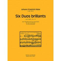 Nisle, Johann Martin Friedrich: 6 Duos brillants op.51 Band 1 (Nr.1-3) für Horn und Klavier