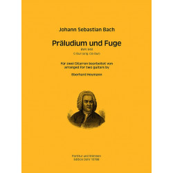 Bach, Johann Sebastian: Präludium und Fuge C-Dur BWV848 : für 2 Gitarren Partitur und Stimmen
