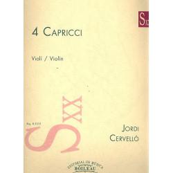Cervell├│, Jordi: 4 Capricci : for violin