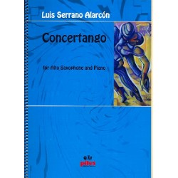 Alarcón, Luis Serrano: Concertango for alto saxophone and piano