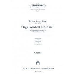Brixi, Franz Xaver: Konzert F-Dur Nr.5 für Orgel und Orchester Orgel