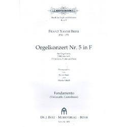 Brixi, Franz Xaver: Konzert F-Dur Nr.5 für Orgel und Orchester Stimmensatz