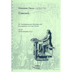 Facco, Giacomo: Concerti : für Tasteninstrument