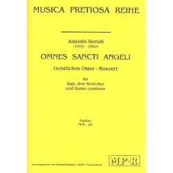 Bertali, Antonio: Omnes sancti angeli für Bass, 2 Violinen, Viola und Bc Partitur und Stimmen