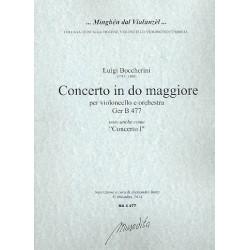 Boccherini, Luigi: Concerto in do maggiore GerB477 : für Violoncello und Orchester Partitur und Stimmen (Streicher 3-3-2-2-2)