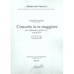 Boccherini, Luigi: Concerto in re maggiore GerB479 : für Violoncello, Streicher und Bc Partitur und Stimmen (3-3-2-2-2)