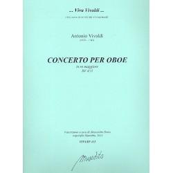 Vivaldi, Antonio: Konzert D-Dur RV453 für Oboe und Streicher Partitur und Stimmen (Bc nicht ausgesetzt) (Streicher 1-1-1-1)