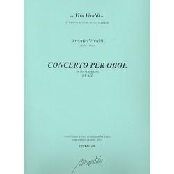Vivaldi, Antonio: Konzert C-Dur RV446 für Oboe und Streicher Partitur und Stimmen (Bc nicht ausgesetzt) (Streicher 1-1-1-1)