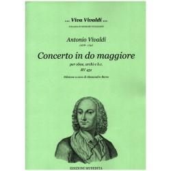 Vivaldi, Antonio: Konzert C-Dur RV451 für Oboe und Streicher Partitur und Stimmen (Bc nicht ausgesetzt) (Streicher 1-1-1-1)