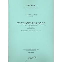 Vivaldi, Antonio: Konzert B-Dur RV464 für Oboe und Streicher Partitur und Stimmen (Bc nicht ausgesetzt) (Streicher 1-1-1-1)