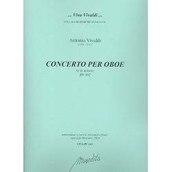 Vivaldi, Antonio: Konzert a-Moll RV462 für Oboe und Streicher Partitur und Stimmen (Bc nicht ausgesetzt) (Streicher 1-1-1-1)