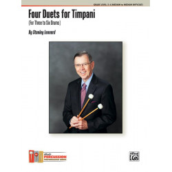Leonard, Stanley: 4 Duets for Timpani : for 3-6 drums (2 players) score
