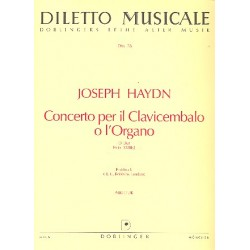 Haydn, Franz Joseph: Concerto D-Dur Hob.XVIII:2 : für Cembalo und Orchester Partitur