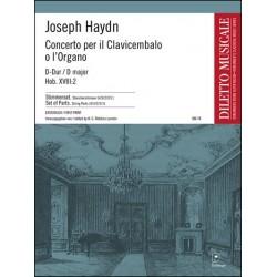 Haydn, Franz Joseph: CONCERTO C-DUR HOB.XVIII:2 : FUER CEMBALO UND ORCHESTER STIMMENSET STREICHER 4-3-2-2-1
