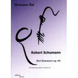 Schumann, Robert: 3 Romanzen op.94 : f├╝r Sopransaxophon und Klavier