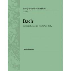 Bach, Johann Sebastian: Konzert d-Moll BWV1052 : für Cembalo, Streicher und Bc Cembalo solo