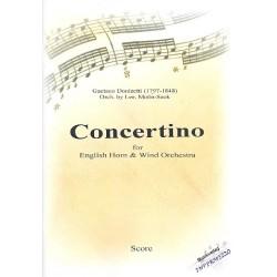 Donizetti, Gaetano: Concertino : für Englischhorn und Blasorchester Partitur und Stimmen