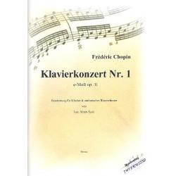Chopin, Frédéric: Konzert e-Moll Nr.1 op.11 für Klavier und Orchester für Klavier und Blasorchester Partitur und Stimmen