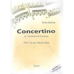 Sachse, Ernst: Concertino für Posaune und Orchester Partitur und Stimmen