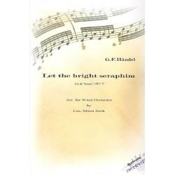 Händel, Georg Friedrich: Let the bright Seraphim HWV57 : für Sopran, Trompete und Blasorchester Partitur und Stimmen (frz)
