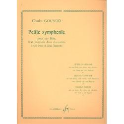 Gounod, Charles Francois: Petite symphonie : pour flute, 2 hautbois, 2 clarinettes, 2 cors et 2 bassons, parties
