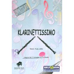 Jettel, Rudolf: Klarinettissimo : f├╝r 2 Klarinetten und Klavier