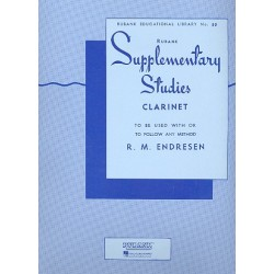 Endresen, R. M.: Supplementary Studies : for clarinet