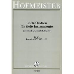 Bach, Johann Sebastian: Bach-Studien für tiefe Instrumente Band 3 : Kantaten BWV103-137 (Cello/Baß/Fagott)
