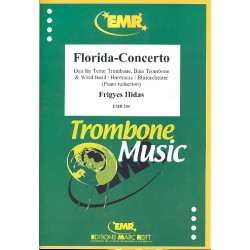 Hidas, Frigyes: Florida-Concerto : for tenor trombone, bbass trombone and wind orchestra piano reduction