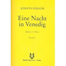 Strauß, Johann (Sohn): Eine Nacht in Venedig : Libretto