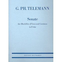 Telemann, Georg Philipp: Sonate F-Dur : für Blockflöte (Flöte) und Bc