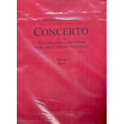 Regner, Hermann: Concerto für Klavier und Blasorchester Partitur und Stimmen