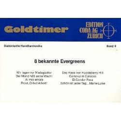 Goldtimer Band 8 : 8 bekannte Evergreens für diatonische Handharmonika