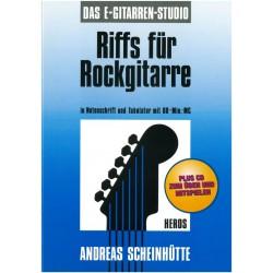 Scheinh├╝tte, Andreas: Riffs f├╝r Rockgitarre (+CD) : Noten und Tab