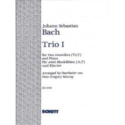 Bach, Johann Sebastian: Trio no.1 : for 2 recorders (at) and piano (harpsichord)