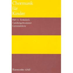 Chormusik f├╝r Kinder Band 4 : Erntedank, Familiengottesdienst, Gemeindefeste, Partitur (dt)